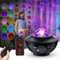LED Galaxy Starry Night Light Projector Ocean Star Sky Party Speaker Bluetooth $27.99