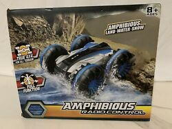 Amphibious Remote Control Car Racing RC Cars 2.4GHz High Speed Blue Land Water $39.95