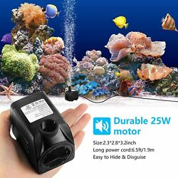 2.5W 10W Small Brushless Submersible Water Pump Fountain Aquarium For FishTank $12.02