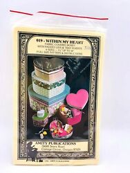 Within My Heart Fabric Covered Boxes With Padded Lids amp; Tray Amity Pub 1985 $8.00