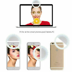 Portable Selfie 3.5quot; LED Light Ring Fill Camera Flash For Mobile Phone and iPad $5.00