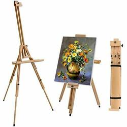 T SIGN Wood Painting Easel Stand Portable Art Floor Tripod Beech Easel Foldab... $80.20