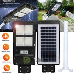 890000LM Commercial Street Solar Light IP67 Dust to Dawn Parking Road LampPole