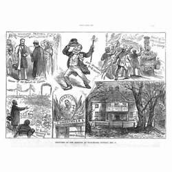 IRELAND Scenes at a Land League Meeting at Waterford Antique Print 1880 GBP 9.95