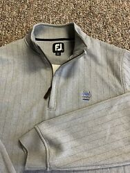 FootJoy Golf Pullover 1 4 Zip Performance Sweater Mens Small Gray Long Sleeve $39.99