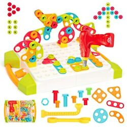 YoWow STEM Learning Toys Building Block Games Set With Drill And Screw Driver $31.99