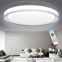 48W LED Ceiling Light Fixture Remote Modern Dimmable Flush Mount Lamp Industrial $60.88