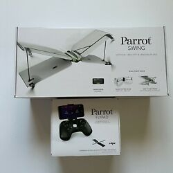 Parrot Swing Quadcopter Camera Drone with Plane Mode Flypad Controller Bundle $59.99