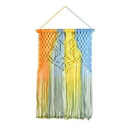 Colored macrame wall hangingColorful boho decor for girls room $17.99