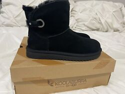 Koolaburra by UGG Suede Buckle Mini Boots Remley Black 8 M $59.95