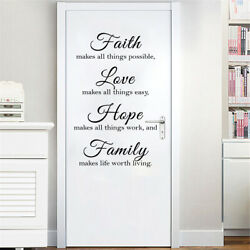 Modern Home Wall Art Stickers Living Room Inspirational Quote Sayings $7.99