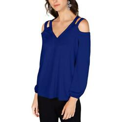 INC Womens Cut Out Cold Shoulder Shirt Blouse Top BHFO 9633 $7.99