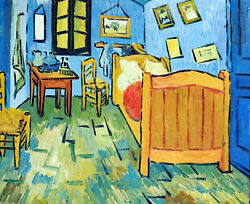 Van Gogh Bedroom In France Home Repro Still Life 20X24 Oil Painting STRETCHED $77.77