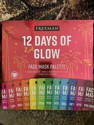 Freeman 12 Days of Glow Holiday Hydrating Facial Mask Gift Set 12 Pieces $18.50