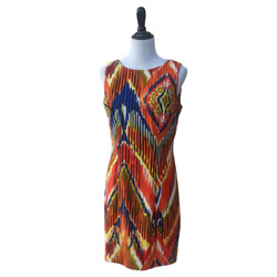 Alyx Women#x27;s Size 12 Multicolor Striped Sleeveless Midi Spring Summer Dress $20.00