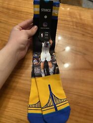 1 Pair STANCE Golden State Warriors NBA STEPH CURRY CLAY THOMPSON L 9 12 Socks $6.90