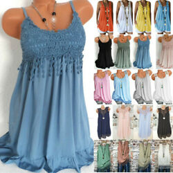 Plus Size Women#x27;s Sleeveless Tank Tunic Boho Vest Summer Casual Loose Tops Tee $15.19