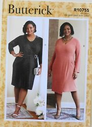 Butterick 6781 Womens Plus Dresses Sewing Pattern Sz 26W 32W $3.99