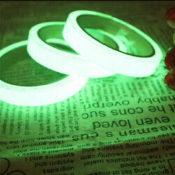 3Meter Roll Glow In The Dark Night Luminous Self adhesive Safety Sticker Tape $3.07