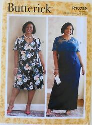 Butterick 6783 Womens Plus Dresses C D DDD Cup Size Sewing Pattern Sz 18W 24W $3.99