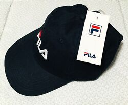 Fila Mens And Womens Style Adjustable Cap Hat Navy $22.99