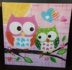 Owl Painting Framed For Nursery Or Kids Room From Target $18.00