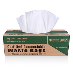 Primode 100% Compostable Bags 3 Gallon Food Scraps Yard Waste Bags Extra Thick $18.89