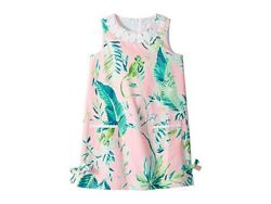 Lilly Pulitzer Girls 7 Little Shift Dress Coral Reef Pink Chimpoiserie Monkey $39.99