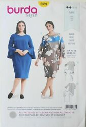 Burda Style 6389 Womens Plus Dresses Vestido Kleid Sewing Pattern Sz 20 30 $3.99