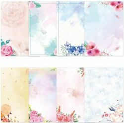 Watercolor Stationary Paper And Envelopes Set Pack Of 48 Double Sided Printing $19.99