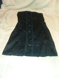 Sequin Hearts Party Sleeves Dress Black Large Beautiful Buttons Zip Back Size 7 $17.77