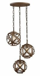 Carson 3 Light Small Outdoor Pendant Vintage Iron Finish with Clear Seedy $1039.00