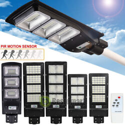 Commercial Outdoor Solar Road Street Light 9990000LM IP67 Dusk to Dawn LampPole