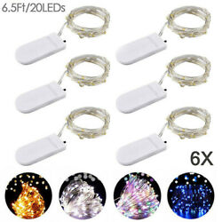 6 Pack 20 LED Battery Micro Rice Wire Copper Fairy String Lights Party Decor $6.29