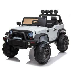 12V White Electric Kids Ride on Car Truck Toys 3 Speeds MP3 LED w Remote Control $198.99