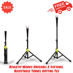 Athletic Works Baseball amp; Softball Adjustable Travel Batting Tee Delivery Size $14.45