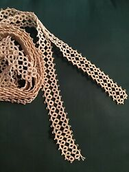 2 Yards vintage Tatted Lace For Pillowcases Crafts Doll Clothes $12.00