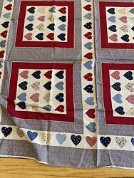 Vintage Material Cut Sew Pillow Cottagecore Farmhouse Quilt Sewing Crafting $10.00