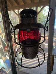 Adlake Kero With Red Globe And 400 Burner Absolutely Mint $175.00