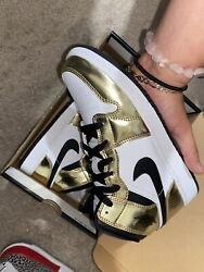 jordan 1 mid gold gs $150.00