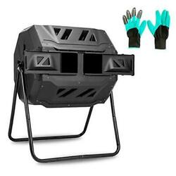 Outdoor Tumbling Composter Dual Rotating Chamber Compost Bin 43GAL 160L $129.96