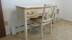 Vintage French Provincial DIXIE BONNET Vanity Desk with Chair $499.99