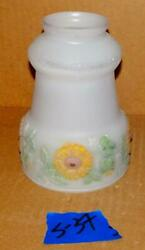 Vtg Reversed Painted Glass Floor Lamp Shade Wall Sconce Light Fixture Shade S 37 $29.99