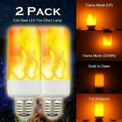 2 Pack LED Flame Effect Simulated Flicker Nature Fire Bulbs Light Decor E27 Lamp $7.00