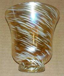 Vtg Iridescent Glass Floor Lamp Shade Sconce Chandelier Replacement Shade S 43 $32.99