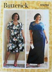 Butterick 6783 Womens Plus Dresses C D DDD Cup Size Sewing Pattern Sz 26W 32W $3.99