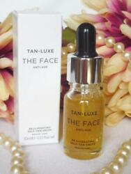 TAN LUXE quot;THE FACEquot; Anti Age Self Tan Drops ** Med Dark ** New and Fresh 10mi $36.95