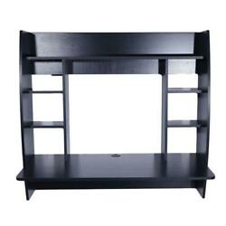 Exquisite Room saving Wall mounted Built up Computer Desk Black $121.17