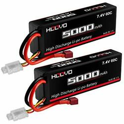 HOOVO 2S 5000mAh 7.4V 60C Lipo Battery RC Battery Hard Case with Deans Connector $38.74
