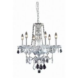 CRYSTAL CHANDELIER FRENCH PENDANT DINING ROOM CEILING LIGHTING FIXTURES 6 LIGHT $427.39